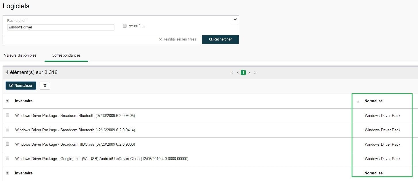 Inventaire - Configuration - Logiciels - Normaliser 3
