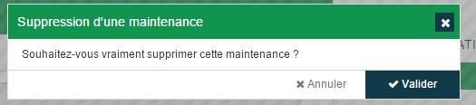 ServiceNav - Maintenance - Confirmation de la suppression