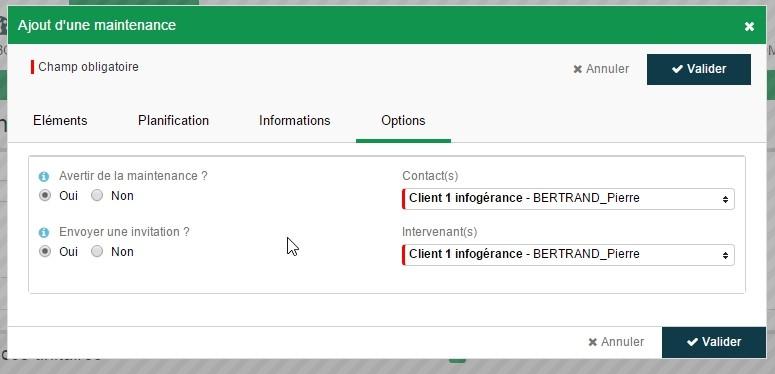 ServiceNav - Maintenance - Options