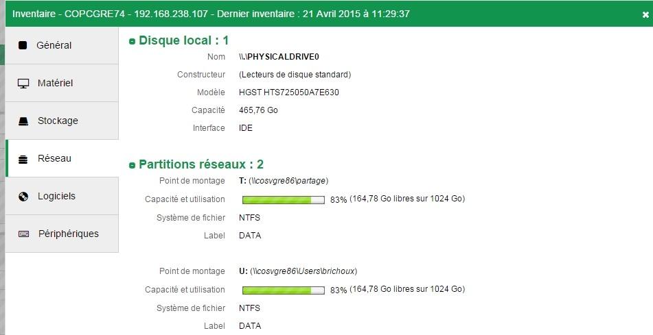 Inventaire - Analyse - Fiche details - Reseau