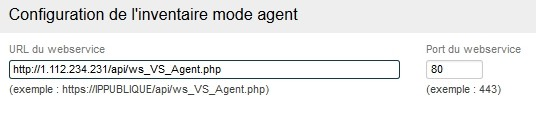 Inventory - Agent mode configuration