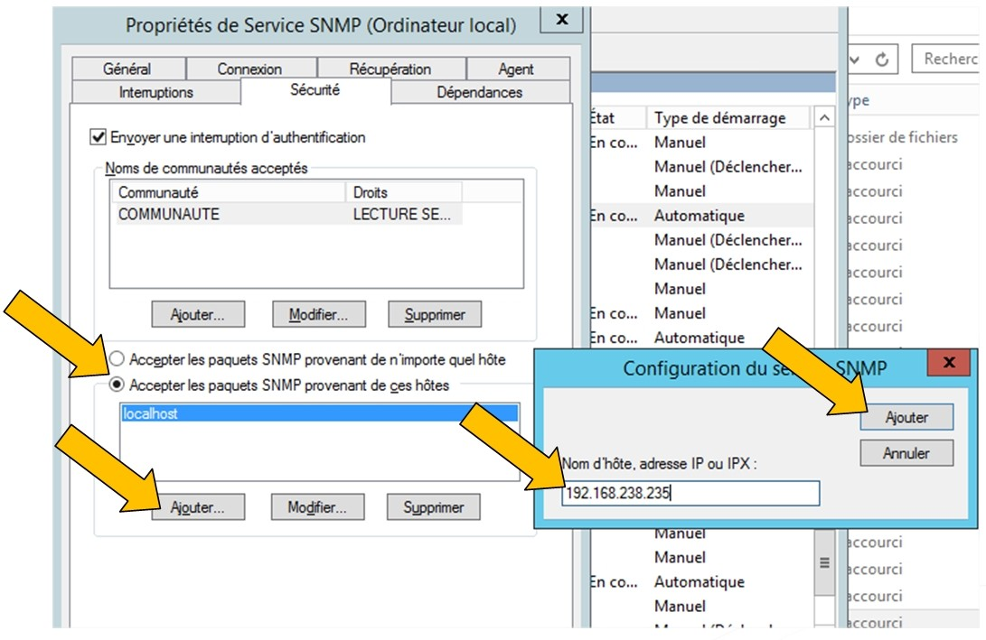 SNMP Service - Properties 4