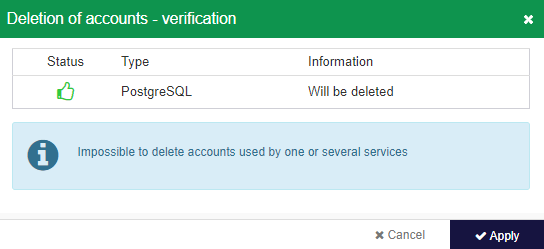 Supervision account - deletion - confirmation
