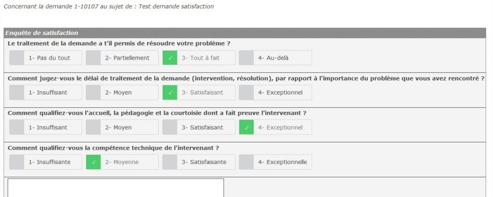 questionnaire extranet